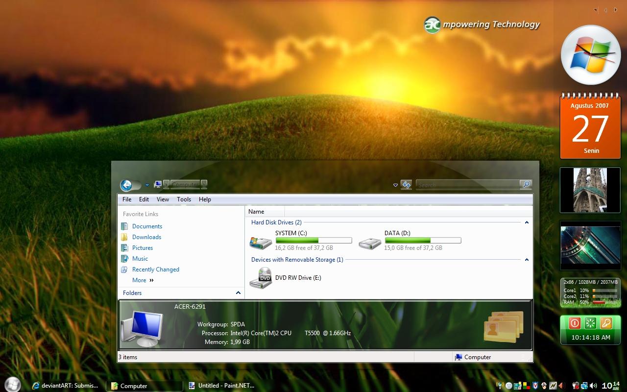 Vista Themes – Free Windows Vista ThemesGlassGlow RC1 Theme