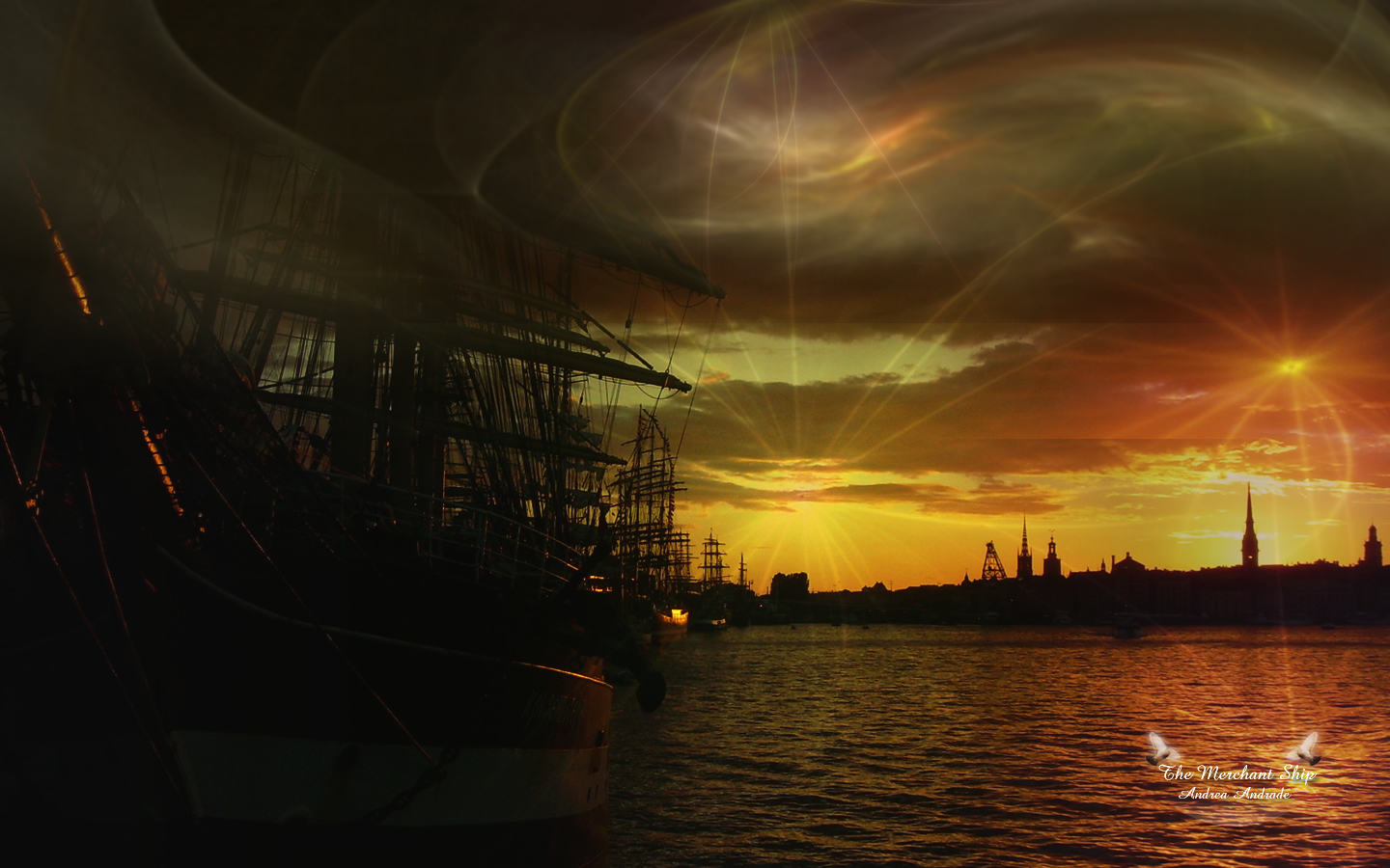 The Merchant Ship Wallpaper - Free Download