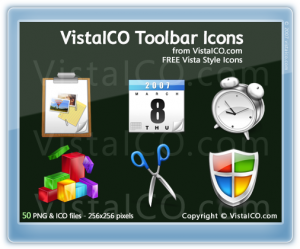 VistaICO Toolbar Icon Pack